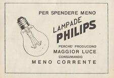 Z1073 Lampade PHILIPS - Pubblicità d'epoca - 1934 Old advertising