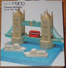 Tower Bridge Paper Nano 3D Laser Cut Intricate detail paper model PN-110 Kawada