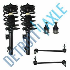 New 2 Complete Front Struts + 2 Sway Bar Link + 2 Ball Joint for Taurus Sable