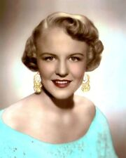 "PEGGY LEE JAZZ SINGER SONGWRITER ACTRESS 1950 8x10"" HAND COLOR TINTED PHOTOGRAPH"