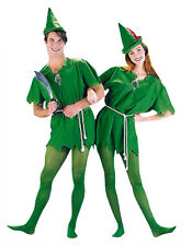 Adulto Peter Pan Costume GANCIO FAVOLA Pixie FANTASY Elf Costume
