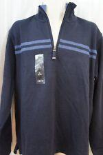 """Izod Luxury Sport Mens Casual Sweater Sz M Midnight Blue """"Sport Rib"""" Pullover"""