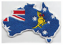 Southern Cross Boxing Kangaroo embroidered cloth patch.    A030903