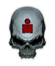 2 Ironman Skull Decal -Triathlon Sticker Athletic laptop ipad graphic