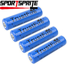 4pcs TrustFire 18650 3.7V 2500mAh Rechargeable Li-ion Batteries for flashlight