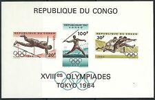 Kongo - Olympische Sommerspiele, Tokio postfrisch 1964 Block 5 Mi. 175-177