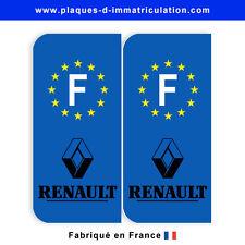 Sticker plaque renault 02 F  (jeu de 2 stickers)