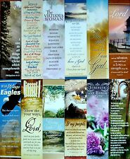 12 ASSORTED CHRISTIAN FAITH RELIGIOUS SCRIPTURE BOOKMARKS -  FAST USA SHIPPING!