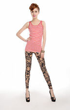 SPECIAL SALE BIN $6.99 RARE MILK SILK SKULL PRINT MULTI COLOR LEGGINGS
