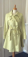 PLANET .. CHARTREUSE YELLOW MAC / TRENCH COAT .. UK SIZE 12 EUR 38 .. EXCELLENT