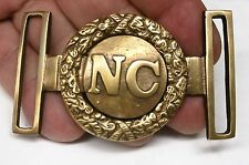 Reproduced  - NC - Confederate States 2 Piece round Belt Buckle  Solid Brass