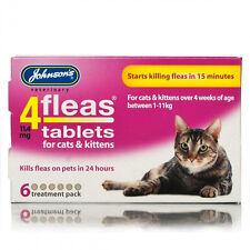 Johnsons 4fleas Pastiglie per Cat & Kitten inizia a uccidere le pulci in 15min 6 compresse