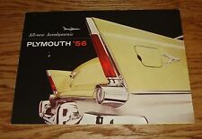 Original 1956 Plymouth Full Line Sales Brochure 56 Belvedere Savoy Plaza