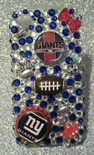 New York Giants NFL bling case 4 iPhone 4s,5,5s,5c,6, Samsung Galaxy S3,S4&S5