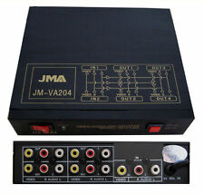 4 Way Audio Video AMP Splitter RCA 1 Input & 4 Output
