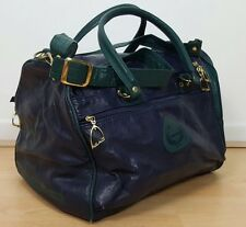 VINTAGE RETRO 90s BLUE GREEN HEAD DUFFLE BAG HOLDALL TRAVEL SPORTS GYM