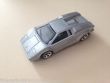 Hot Wheels HW Lamborghini Countach Silver Diecast Model Car 1:64 Loose