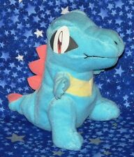 Totodile Pokemon Plush Beanie Style Doll Gold and Silver by Hasbro USA from 2000
