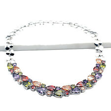HERMOSA Multi-Precious Stones Necklaces Garnet Morganite Amethyst Peridot 20""
