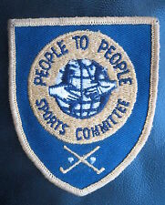 PEOPLE TO PEOPLE SPORTS COMMITTEE EMBROIDERED SEW ON ONLY PATCH EISENHOWER