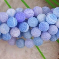 """8mm Dream Fire Dragon Veins Agate Round Loose Beads 15"""""""