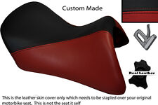 BLACK & DARK RED CUSTOM FITS BMW R 1200 RT FRONT SEAT COVER FOR A LOW SEAT