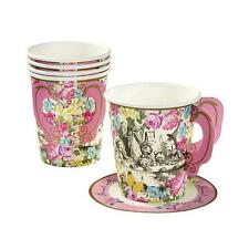 TRULY ALICE in Wonderland Tea/Birthday/Wedding Party WHIMSICAL CUPS & SAUCERS