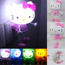 Cute Cartoon Hello Kitty LED Light Sensor Control Bedroom Night Lamp Lights