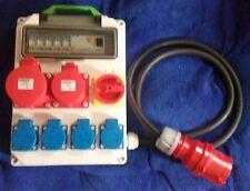 Stromverteiler  32A mit CEE 2 x16A,4x Schuko 230V mit Hauptschalter