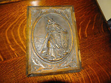 Antique Carved Book Cover Germania Watching Over River Rhine