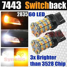2x 7443 Dual Color Switchback White Yellow Hi-Power 2835 LED Turn Signal Lights