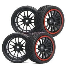 3mm offset RC 1/10 On-Road Car Foam Rubber Tyres Tires Wheel Rims 9068-8001