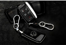 Auto Black Remote FOB Key Cover Case Bag Fit For Land Rover Evoque Discover 4