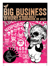 BIG BUSINESS Birmingham UK 2017 silkscreened poster by Francisco Ramirez