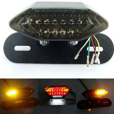 12V Smoke LED Motorcycle Turn Signal Brake License Plate Integrated Tail Light