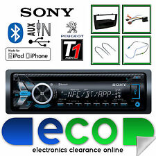 Peugeot 308 Sony CD MP3 USB Bluetooth Handsfree Stereo Black Fascia Panel Kit