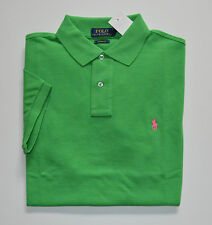 NWT Men's Ralph Lauren Short-Sleeve Polo Shirt, Green, Custom Fit, XXL, 2XL