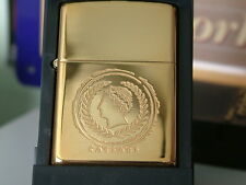 SUPER RARE SOLID BRASS CAESARS ZIPPO LIGHTER FROM 2003. BRAND NEW/UNUSED.