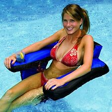 Inflatable Water Pool Floats Chair Drink Holder Swimming Summer Comfort Armrest