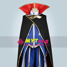 Code Geass Lelouch Cosplay Costume Black Coat+Blue Suit M006
