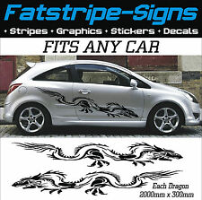 DRAGON GRAPHICS DECALS STICKERS CAR VINYL FORD VW VAUXHALL MINI SUBARU TOYOTA x2