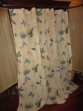 CROSCIL GAZEBO BOTANICA YELLOW GREEN BLUE FLORAL SHOWER CURTAIN 71 X 72 NEW
