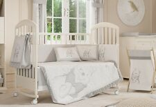 Gray Winnie the Pooh Crib Bedding Collection 4 Pc Crib Boy Bedding Set