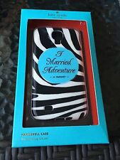"NEW Kate Spade Samsung Galaxy S4 ""I Married Adventure"" Hardshell Cell Phone Case"
