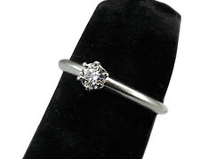 Authentic Tiffany & Co Platinum Diamond Engagement Ring Size 4&1/2 and Sizable