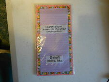 60 sheet Magnetic Note Pad (new) FLOWER BORDER #11