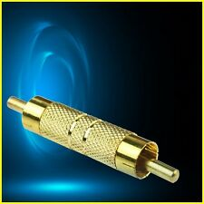 Quality Gold RCA AV Audio Video Male to Male Coupler connector plug
