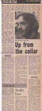 BILL CLIFTON : newspaper INTERVIEW ARTICLE -1971-