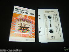 THE BEATLES MAGICAL MYSTERY TOUR AUSTRALIAN CASSETTE TAPE 1ST PRESS PAPER LABELS