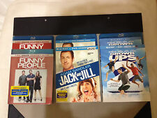 FUNNY PEOPLE+JACK & JILL+GROWN UPS 2 - BLU-RAY/DVD COMBOS-3 ADAM SANDLER MOVIES